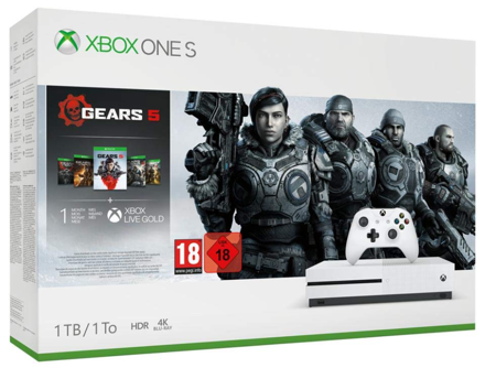 KONSOLA XBOX ONE S 1TB 4K + GEARS OF WAR 5 + GEARS OF WAR 1-4