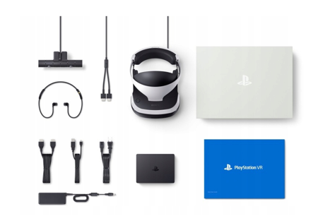 PLAYSTATION VR MEGA PACK V2 PS4 GOGLE + KAMERA + 5 GIER
